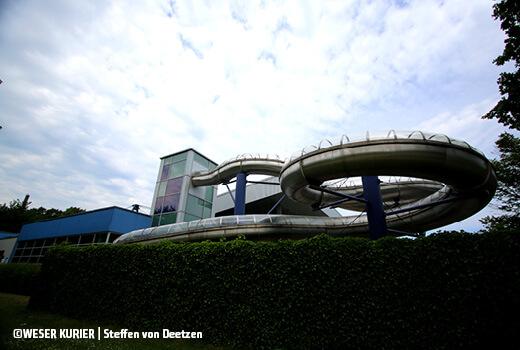 Die Riesenrutsche im Südbad Bremen